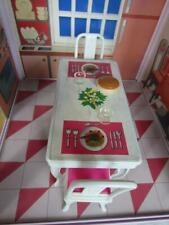*Vintage 1980s Barbie Dining Table, Chairs, Accessories Kitchen Furniture