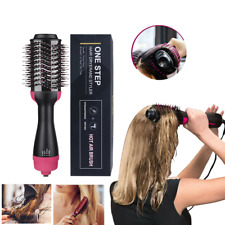 Hair Dryer Volumizer One Step Curling Oval Brush Curler Styling Mixed Bristles