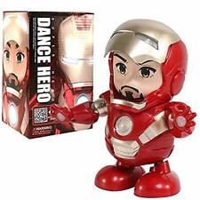 Dance Hero Iron Man Avengers Toy Figure Dancing Robot w/LED & Music Kid's Gift