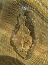 ancienne pampille de lustre verre epoque 1900 7.7 cm poire a facettes   10