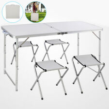 Mesa de Camping Plegable Aluminio Maletín Del Buffet Jardín 120CM