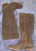 Bronx US 9 Boots Equestrian Riding Tan Leather Suede Brown Knee-High EU 40