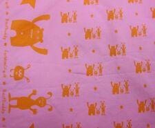 Best Buddy Stretch Sweat pink Farbenmix 50 cm Kinderstoff Monster nähen Meterwar