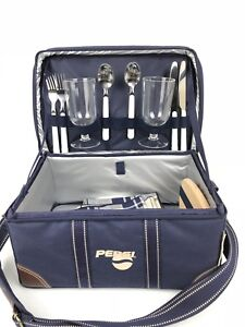 Picnic at Ascot x PEPSI Collectible Picnic Cooler Set For 2 Insulated Plastic