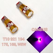T10 W5W 168 194 2825 175 12961 Purple LED License Plate Light Bulb B1 Ni B