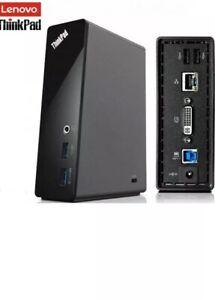 Lenovo ThinkPad USB 3.0 Docking Station (WORKS WITH ALL LAPTOPS)