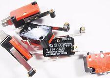 5 x interruptor endschalter sonda con papel 1xum 250v 15a langer palanca #9s69#