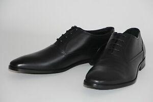 HUGO BOSS Business-Schuhe, Mod. Square_Oxfr_lt, Gr. 43,5 / UK 9.5  Black