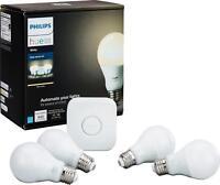Philips - Hue White A19 LED Starter Kit - White