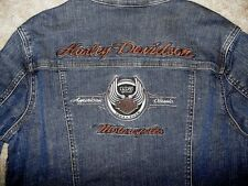 Harley Davidson 105th Anniversary Stretch Denim Jean Jacket Studded 96125-08VW S