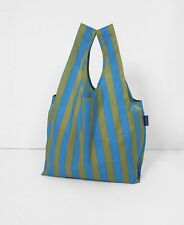 BAGGU CYAN STRIPE Standard Size Reusable Bag - NWT - Discontinued Pattern