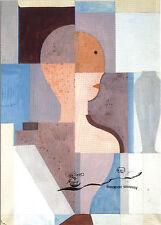 Tarjeta de arte/Postcard Art-Oskar Schlemmer: dividida semi personaje hacia la derecha