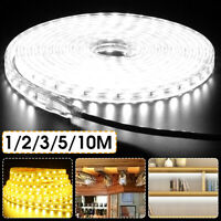 5050 Tape Lights rope Waterproof Strip SMD Flexible Ribbon LED Outdoor 220V