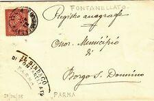 44-PARMA, FONTANELLATO, DOPPIO CERCHIO PER BORGO SAN DONNINO ( FIDENZA), 1875