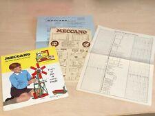 1959 Meccano Catalogue + Price List + Outfit Contents List + Letter / Billhead