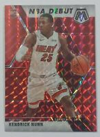 268. (NBA Debut) KENDRICK NUNN (Miami Heat) - ROOKIE RED MOSAIC PRIZM