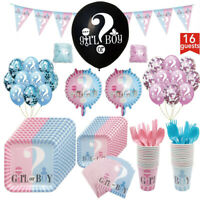 139 Pieces Baby Shower Boy or Girl Gender Reveal Party Supplies Decorations