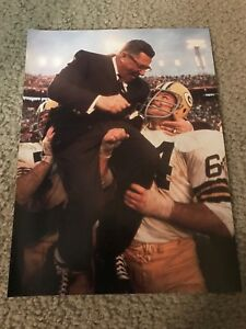 RARE VINCE LOMBARDI Print Photo Vintage GREEN BAY PACKERS 1968 SUPER BOWL II 2