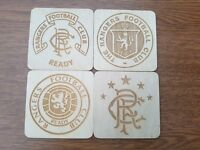 Rangers fc , laser engraved coasters set , gift idea