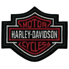 HARLEY DAVIDSON RED BAR SHIELD PATCH  3 inch PATCH
