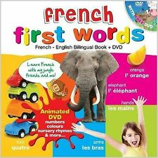 French for Kids First Words: French-English Bilingual Book + DVD by my desi guru (Mixed media product, 2012)