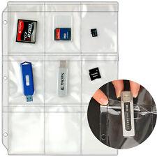 StoreSMART USB Flash Drive/Memory Cards Case 3-Ring Binders 10Pk - RMSTWPF-10