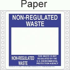 Non-Regulated Waste Paper Labels HWL250P (Pack of 500)