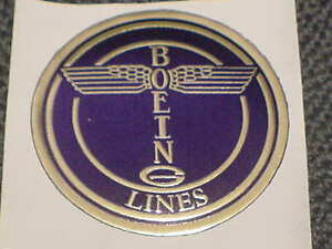 Boeing Aircraft Co. Early Totem Pole Logo Embossed on gummed gold foil sticker
