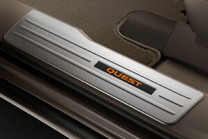 Genuine Nissan 2011-2016 Quest BEIGE Illuminated Front Kick Plates