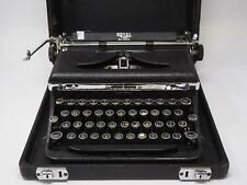 VINTAGE ANTIQUE ROYAL DELUXE A706139 MECHANICAL TYPEWRITER ART DECO FREE SHIP!