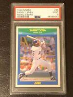 1990 Score Sammy Sosa Rising Stars Card #35 PSA 9 MINT! Rookie White Sox Cubs