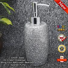 New York Glitz Pump Soap Dispenser Or Cream Dispenser Bling Your Bathroom Bedroo