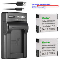 Kastar Battery Slim Charger for Panasonic DMW-BCM13 & Panasonic Lumix DMC-ZS40
