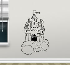Castle In Clouds Wall Decal Magic Kingdom Vinyl Sticker Art Decor Mural 29hor