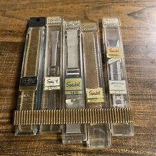 Lot Of 6 Euroflex Radial vintage New Speidel Watchband Variety
