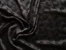 100 % Maulbeerseide Paisley grau/schwarz 110 cm breit Meterware