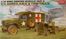 Academy 1.72 escala nos ambulancia & Remolque Tractor Vehículo de tierra Set - 13403