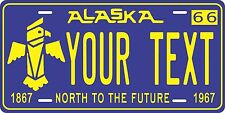 Alaska 1966 License Plates Tag Personalized Auto Car Custom VEHICLE OR MOPED