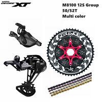 Shimano Deore XT M8100 Group 1X12 Speed MTB Groupset 4 Pcs 50T 52T MTB 12s group