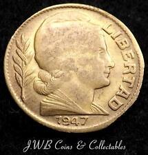 1947 ARGENTINA 10 CENTAVOS MEDAGLIA