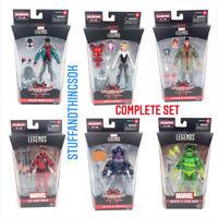 Marvel Legends Into The Spider-Verse Stilt-Man BAF Complete Set Of 6 Wave NEW