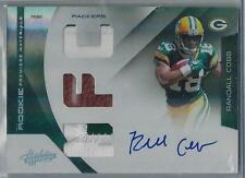 2011 ABSOLUTE MEMORABILIA RANDALL COBB RC AUTO FOOTBALL DUAL PATCH 01/25!!