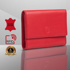 Tomis RFID Leather Wallet For Women,Small Credit Card Holder with Zipper Pocket