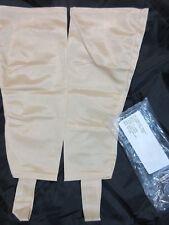 Vintage Stirrup Stocking Pair Lycra Spandex Dr Leonards #08493 White USA Made XL