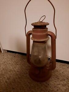 Vintage Red Dietz Junior No. 20 Railroad Hurricane Kerosene Oil Lamp Lantern