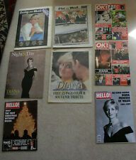 4 magazines & 4 newspapers relating to Princess Diana, (Lady Diana Spencer)