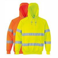 Hi Vis Hoody Sweatshirt High Vis Hoodies Hooded Jumper shirt portwest  B304 size