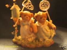 Cherished Teddies Farrah & Annabel girls with butterfly nets Limited Ed 2002