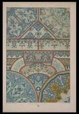 FAIENCES ROUEN 18e - LITHOGRAPHIE 1869 - RACINET, ORNEMENTATION
