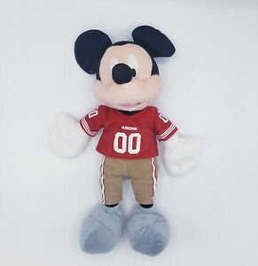 "Disney NFL San Francisco 49ers Mickey Mouse 15"" Plush"